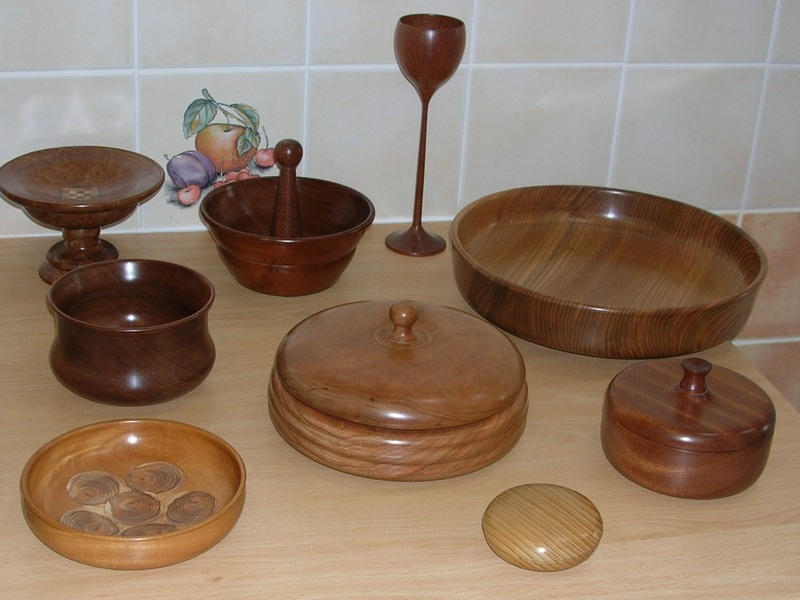 Collection of turned items